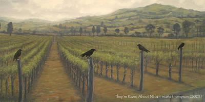 Napa Ravens Art Print by Marte Thompson