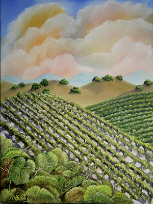 Napa Valley Vineyard Painting - Napa Summer Vineyard by William Williams