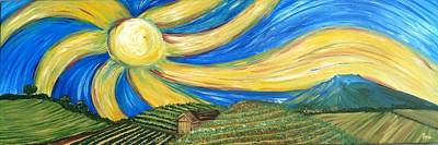 Painting - Napa Sun by Kathryn Rone