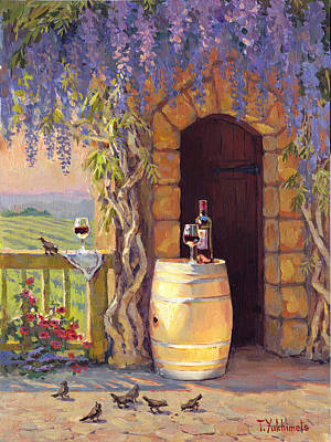 Winery Painting - Napa Valley Afternoon by Tania Yukhimets
