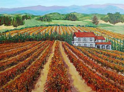 Painting - Napa Valley Autumn by Mike Caitham