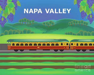 Napa Valley Digital Art - Napa Valley California Horizontal Scene by Karen Young