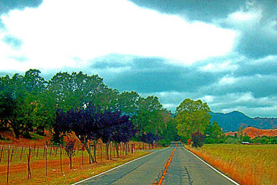 Digital Art - Napa Valley - California by Joseph Coulombe