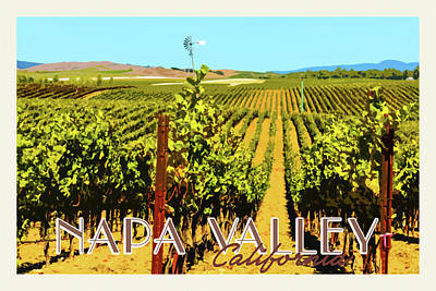 Napa Valley California Poster Art Print by Brandon Bourdages