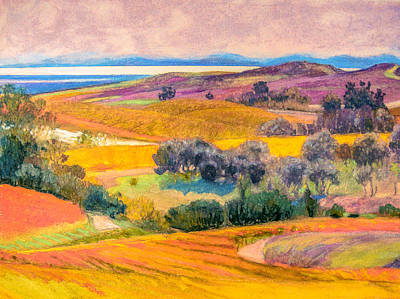 Digital Art - Napa Valley Hills by Judith Barath