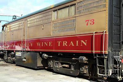 Photograph - Napa Valley Railroad Wine Train In Napa California Wine Country 7d8987 by San Francisco