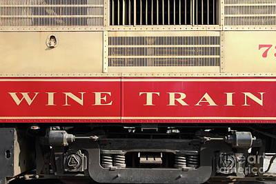 Photograph - Napa Valley Railroad Wine Train In Napa California Wine Country 7d8988 by San Francisco