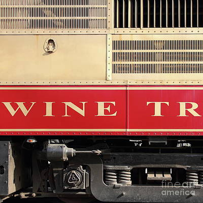 Photograph - Napa Valley Railroad Wine Train In Napa California Wine Country 7d8988 Square by San Francisco