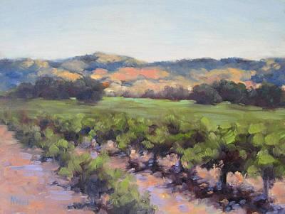 California Vineyard Painting - Napa Valley Vineyard by Alice Weil