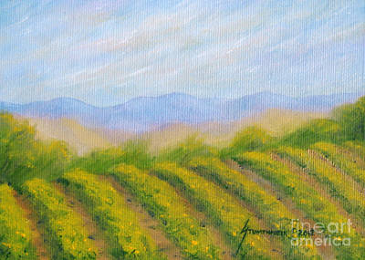 Napa Valley Vineyard Painting - Napa Valley Vineyard by Jerome Stumphauzer