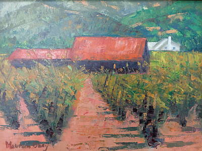 Napa Valley Vineyard Painting - Napa Valley Vineyard by Maureen Obey