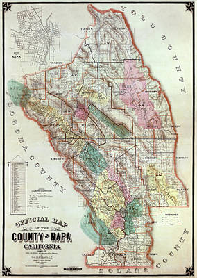 Wine Cellar Photograph - Napa Valley Wine Country - California  1895 by Daniel Hagerman