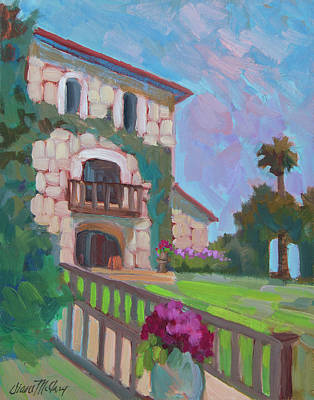 Napa Painting - Napa Valley Winery by Diane McClary