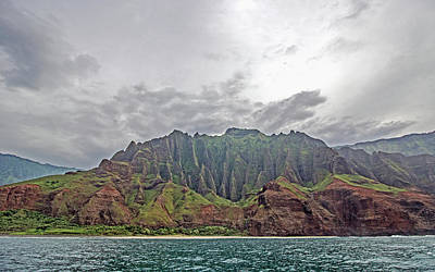 Photograph - Napali Coast Cathedral by Angie Schutt