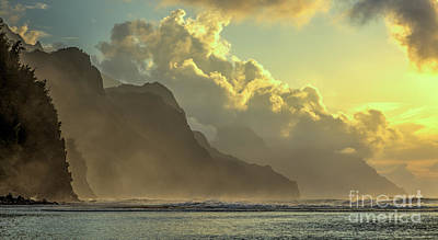 Photograph - Napali Coast Kauai Hawaii Dramatic Sunset by Dustin K Ryan