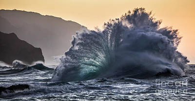 Photograph - Napali Coast Kauai Wave Explosion Hawaii by Dustin K Ryan