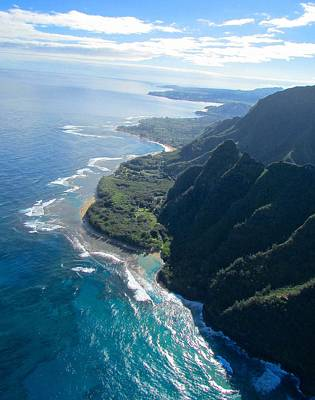Photograph - Napali Coast Looking North by Brenda Pressnall