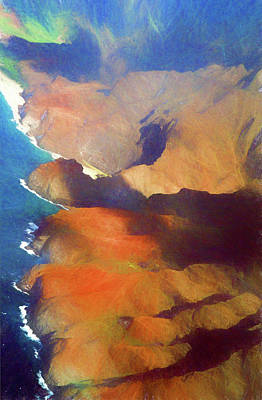 Photograph - Napali Coastline Abstract by Mary Bedy