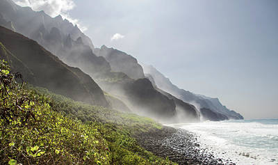 Photograph - Napali Mist by Angie Schutt