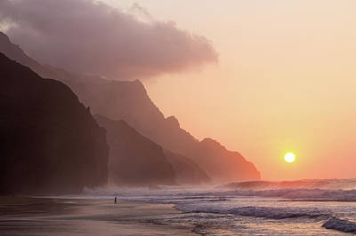 Photograph - Napali Sunset by Angie Schutt