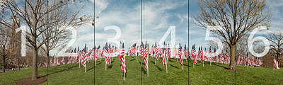 Photograph - Naperville Healing Field Of Honor At Rotary Hill Panoramic Map by Michael Bessler