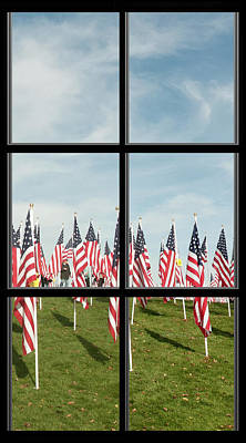 Photograph - 4 Of 6 Naperville Healing Field Of Honor At Rotary Hill Window by Michael Bessler