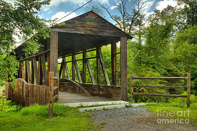 Photograph - Napier Township Covered Bridge by Adam Jewell