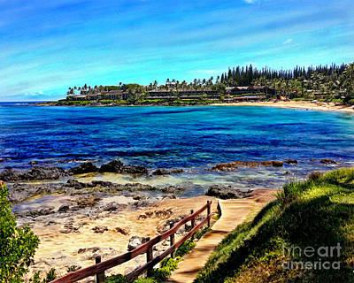 Mixed Media - Napili Beach Gazebo Walkway by Glenn McNary