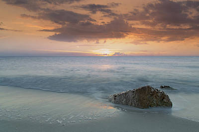 Photograph - Naples Beach Sunset by Christopher L Thomley