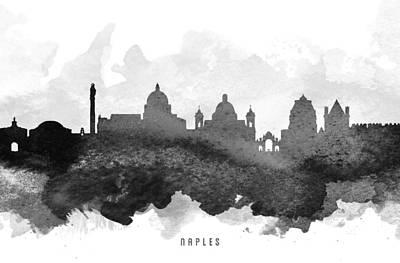 European City Digital Art - Naples Cityscape 11 by Aged Pixel