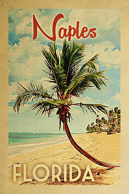 Naples Beach Wall Art - Digital Art - Naples Florida Palm Tree by Flo Karp