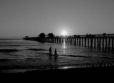 Naples Florida Pier Sunset Art Print