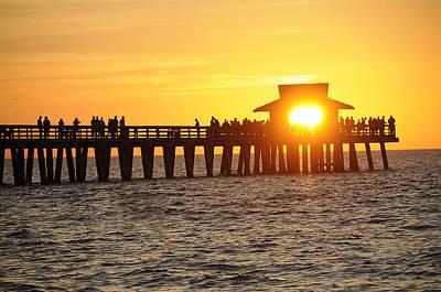 Naples Florida Sunset Pier Art Print by Keith Lovejoy