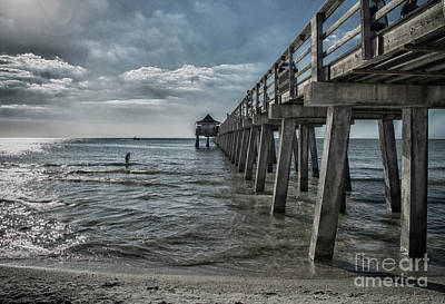 Photograph - Naples Pier And Beach Fun by Judy Hall-Folde