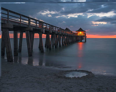 Photograph - Naples Pier At Blue Hour Naples Florida Sunset by Toby McGuire