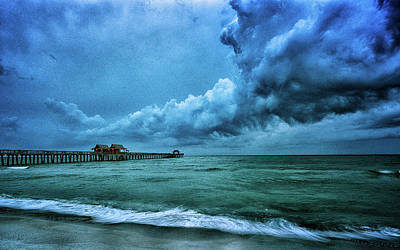 Naples Pier Photograph - Naples Pier At Dawn by Rick Barnard