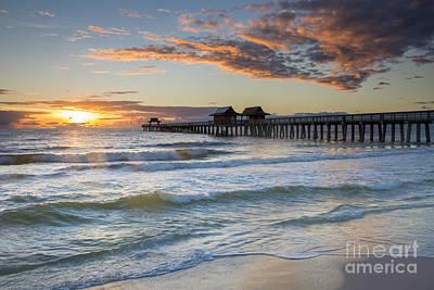Photograph - Naples Pier At Sunset by Brian Jannsen