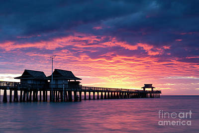 Photograph - Naples Pier At Sunset Iv by Brian Jannsen
