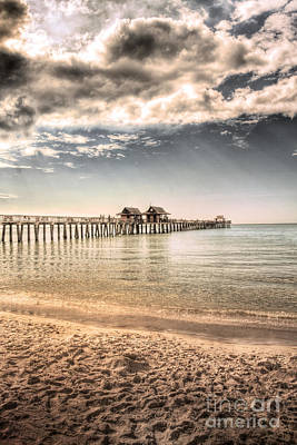 Clouds Photograph - Naples Pier by Margie Hurwich