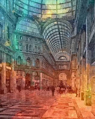 Tuscan Sunset Digital Art - Naples , Italy by Nikolay Ivanov