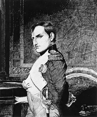 Drawing - Napolean Bonaparte by David Lloyd Glover