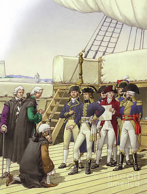 On Deck Painting - Napoleon Accepts The Surrender Of Malta by Pat Nicolle