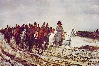 Moscow Drawing - Napoleon And His Staff Returning From by Vintage Design Pics