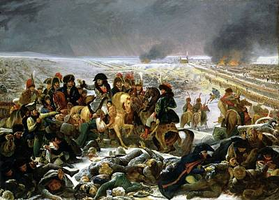 Print featuring the painting Napoleon At Eylau  by Antoine Jean Gros