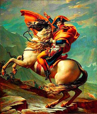 Saint Louis Mixed Media - Napoleon At The Saint-bernard Pass by David