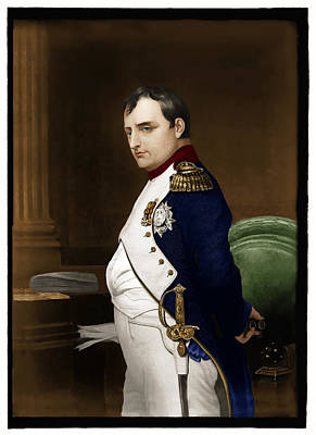 Photograph - Napoleon Bonaparte Hand Coloring And Retouching - Remastered by Carlos Diaz