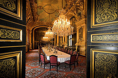 Photograph - Napoleon Bonaparte's Dinning Room At The Louvre Museum Paris by Pierre Leclerc Photography