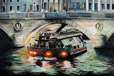Drawing - Napoleon Bridge Paris France by Paul Cubeta