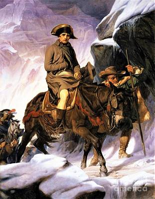 Painting - Napoleon Crossing Alps by Pg Reproductions