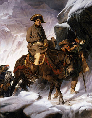 Mountain Snow Landscape Painting - Napoleon Crossing The Alps by Hippolyte Delaroche